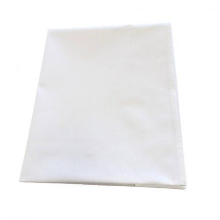 Fehér pamutvászon lepedő 120 x 200