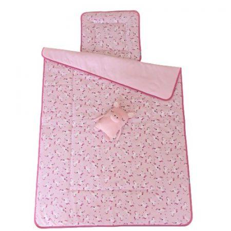 Ovis ágynemű szett töltettel unikornis rózsaszín