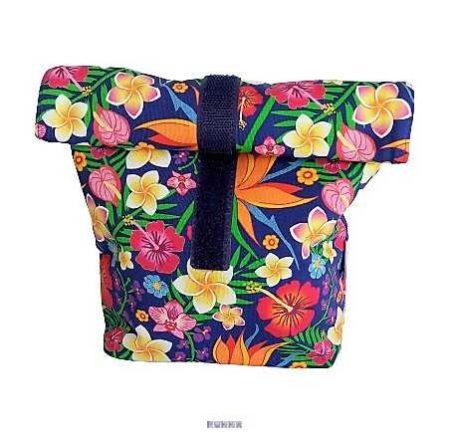 Textil uzsonnás tasak virágok