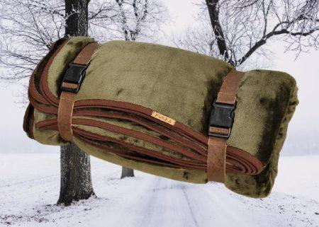 Vadász horgász kétrétegű takaró hordozóval 100x150 cm