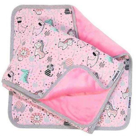Jersey #bébitakaró 70x100 cuki állatok #rózsaszín
