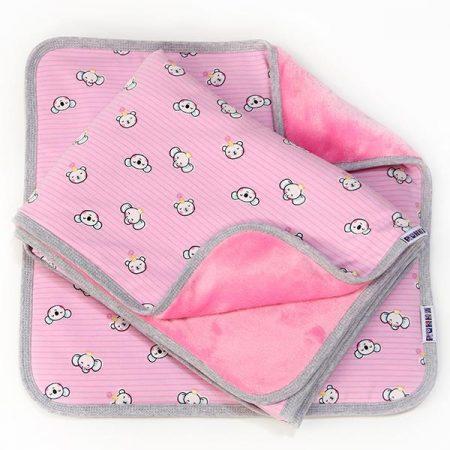 2 részes baba #takaró szett picurka állatok #rózsaszín