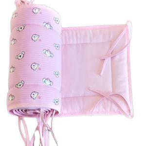 kiságy rácsvédő fejvédő picurka állatok rózsaszín