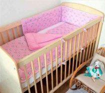 Baba 3 részes steppelt takaró garnitúra picurka állatok rózsaszín