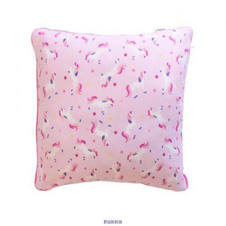 Unikornis párnahuzat rózsaszín 40x40 cm