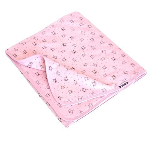 Óvodai fektetőre takaró dupla rétegben rózsaszín